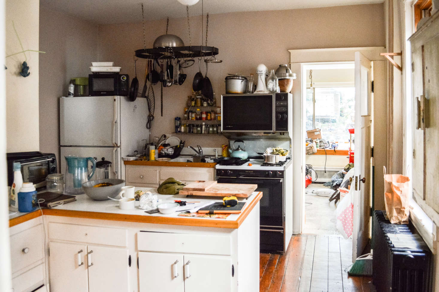 The kitchen was last tackled in the 70s and included a small addition in the back used as the pantry.