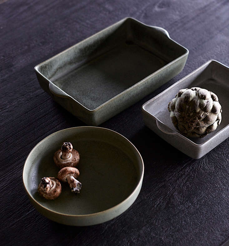 We especially liked the oven-proof ceramic Ceto Dish line from Danish company Muubs.