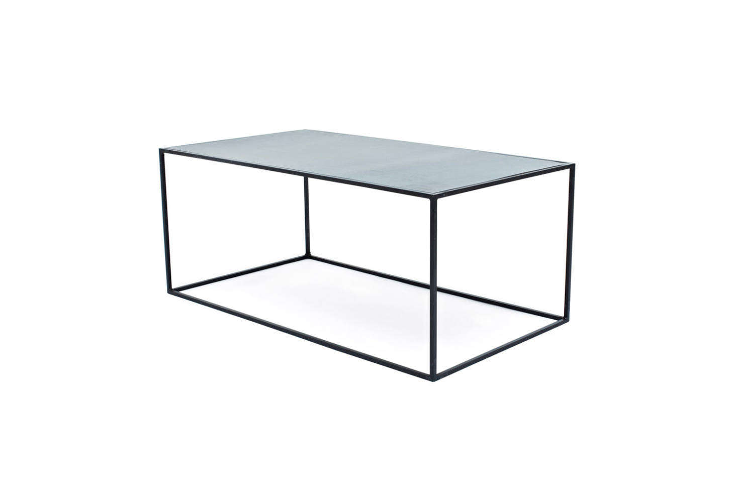 The Flatiron-Wrought Cube Coffee Table is made of natural steel; $5 at ABC Carpet & Home.