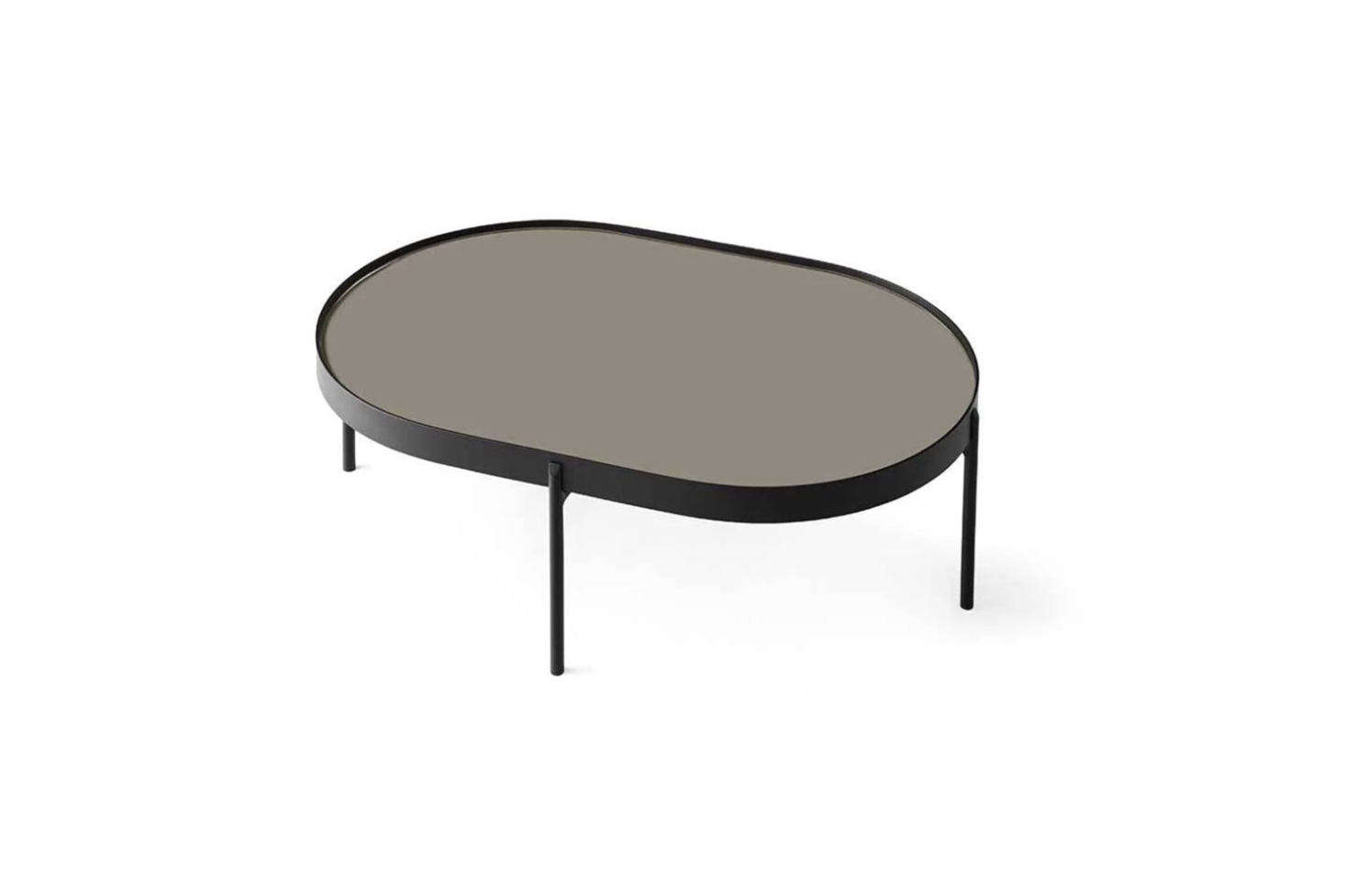 From TRNK, the Nono Tables in Beige Glass are $4.