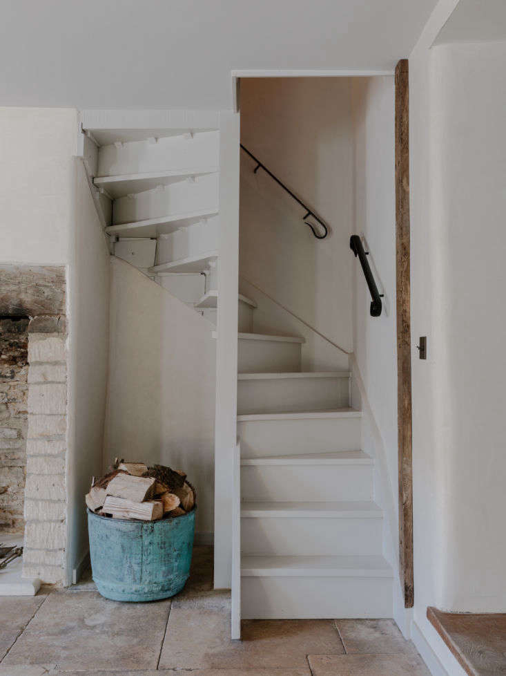 Detail of Stairs in Whitehall Cottage At Cotswolds Farm Hideaway, Photo by Marina Denisova
