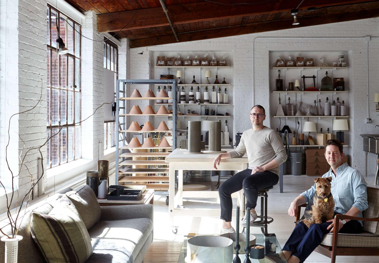Studio Visit: Ceramic Statement Lighting by Dumais Made