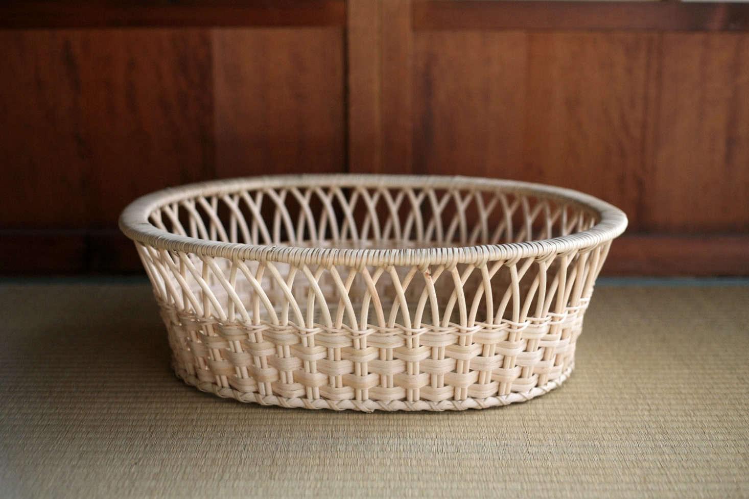 The Tsuruya Shoten Rattan Clothes Basket Ellipse is ¥src=