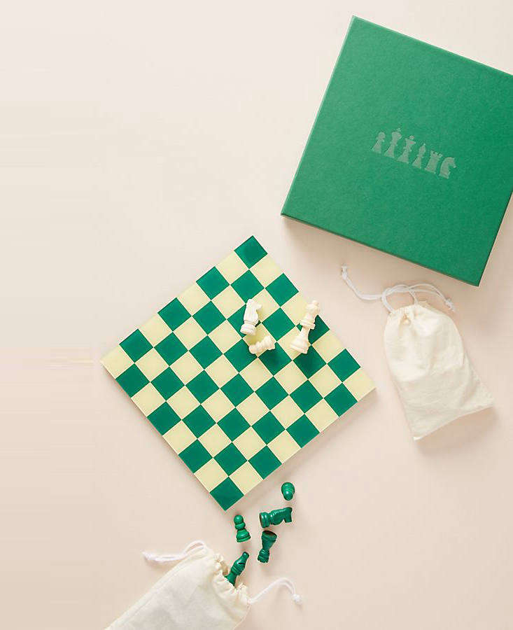 Another pick by Printworks (a new favorite): the charming greenChess Set, currently on sale for $3