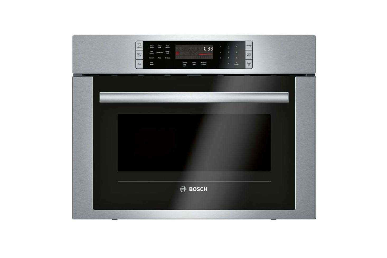 The Bosch 500 Series -Inch Built-in Convection Speed Microwave is $src=