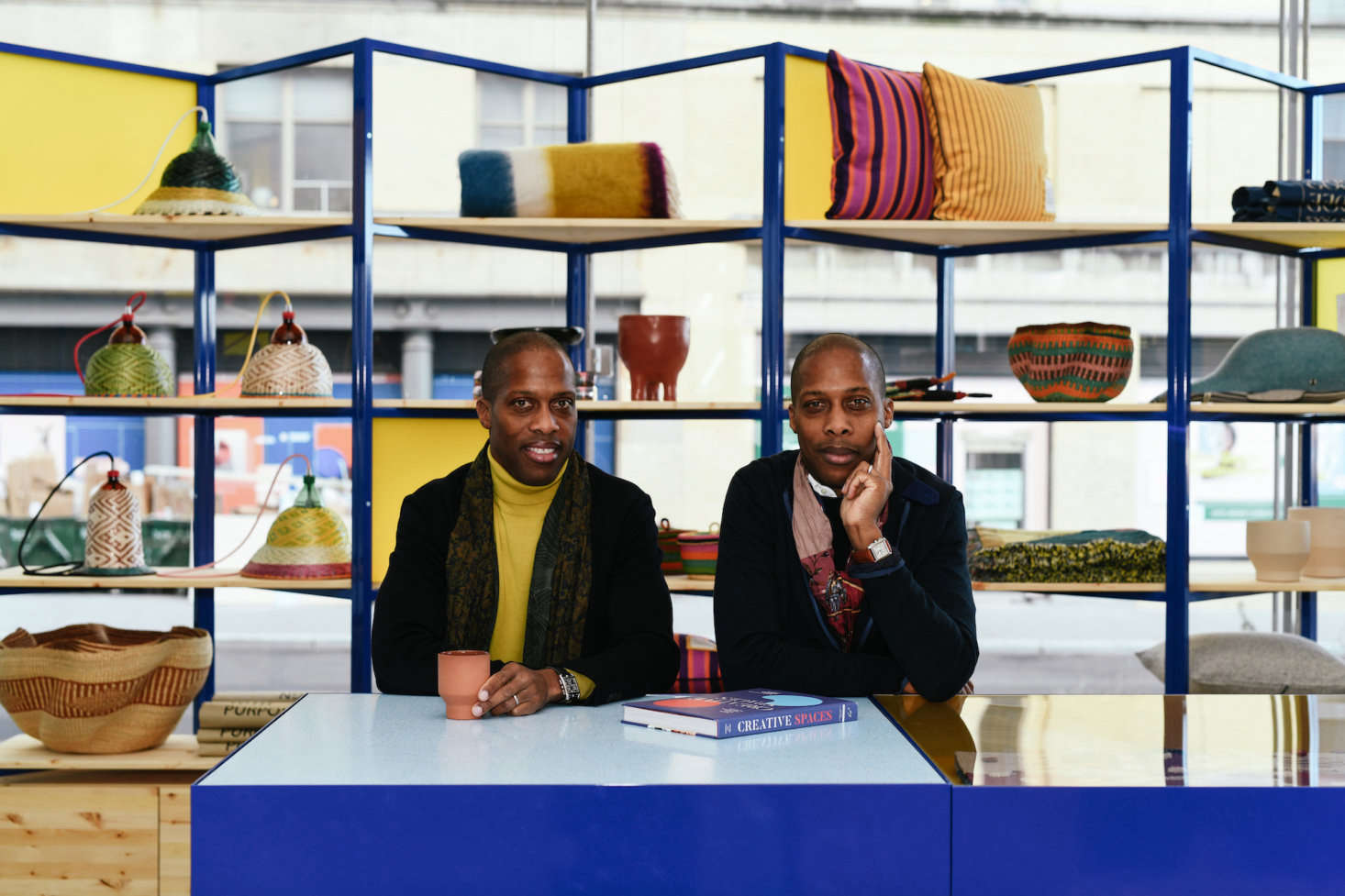 "Byron and Dexter at the Goodee Whitney shop. ""Byron and I have been huge fans and members of the Whitney for years, and while we live in Montreal, it has always been a cultural inspiration for us,&#8"