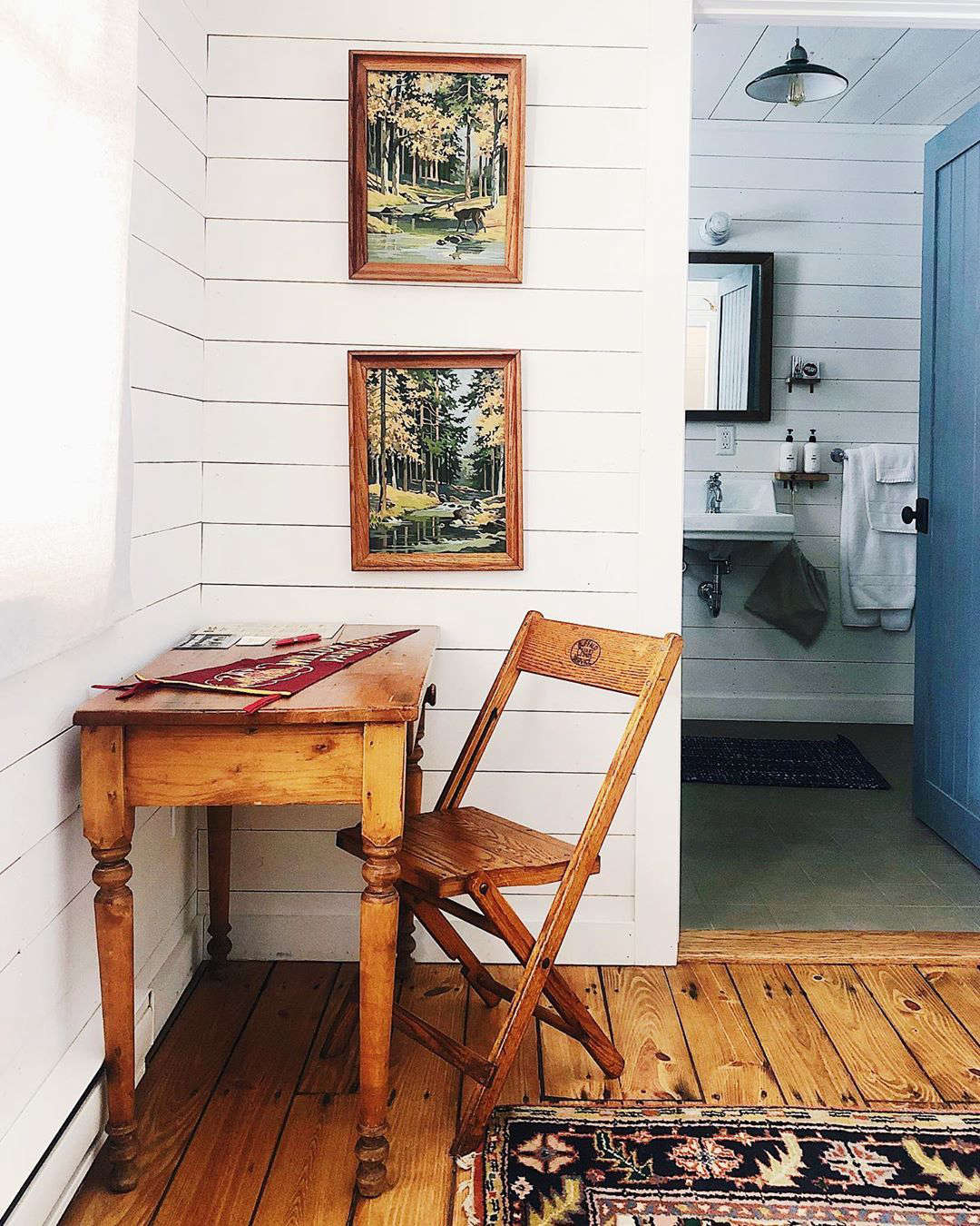 Old wooden folding chairs and paint-by-number paintings are Craigslist staples.