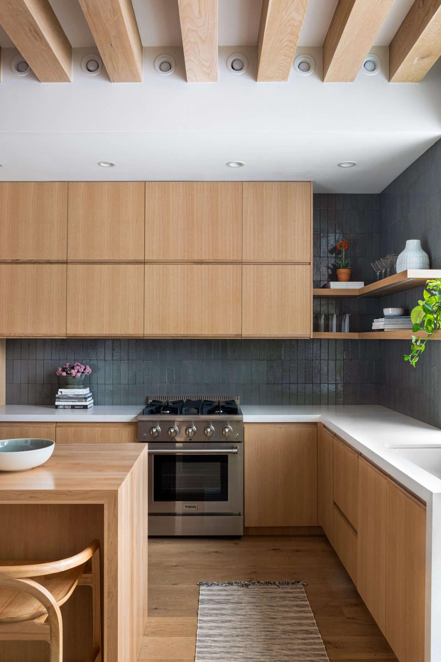 Wood Indoor Outdoor Kitchen Remodel
