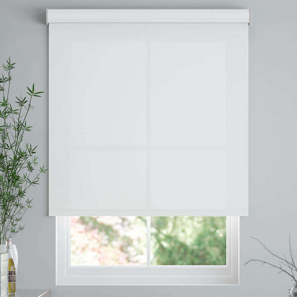 Select Blinds offers Classic Fabric Roller Shades, shown in Cloud Nine, starting at $.47.