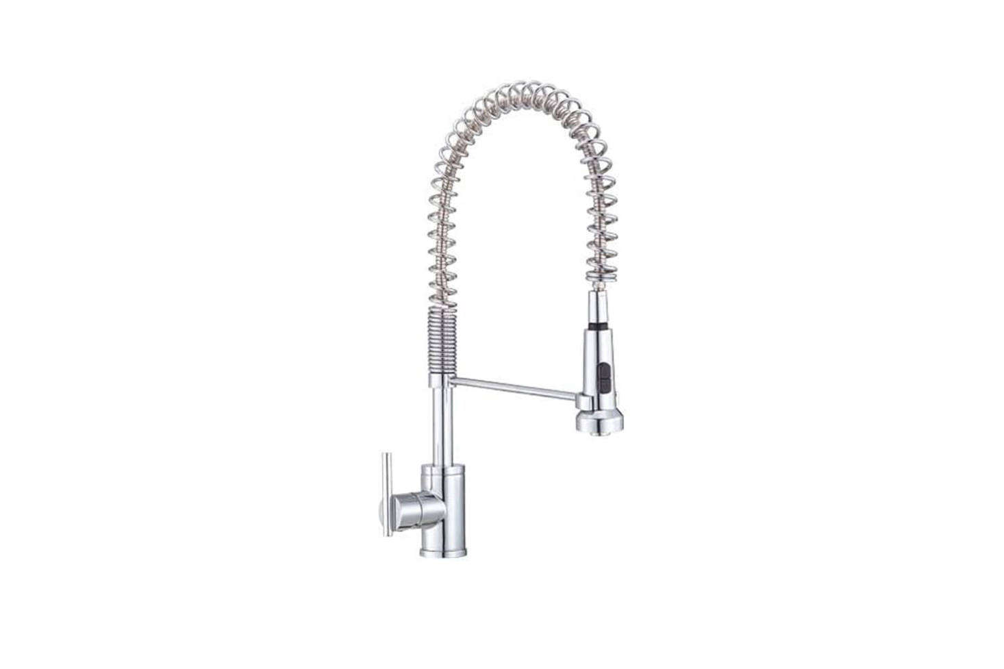 The Danze Parma Single Handle Pre-Rinse Faucet (D4558) in Chrome is $