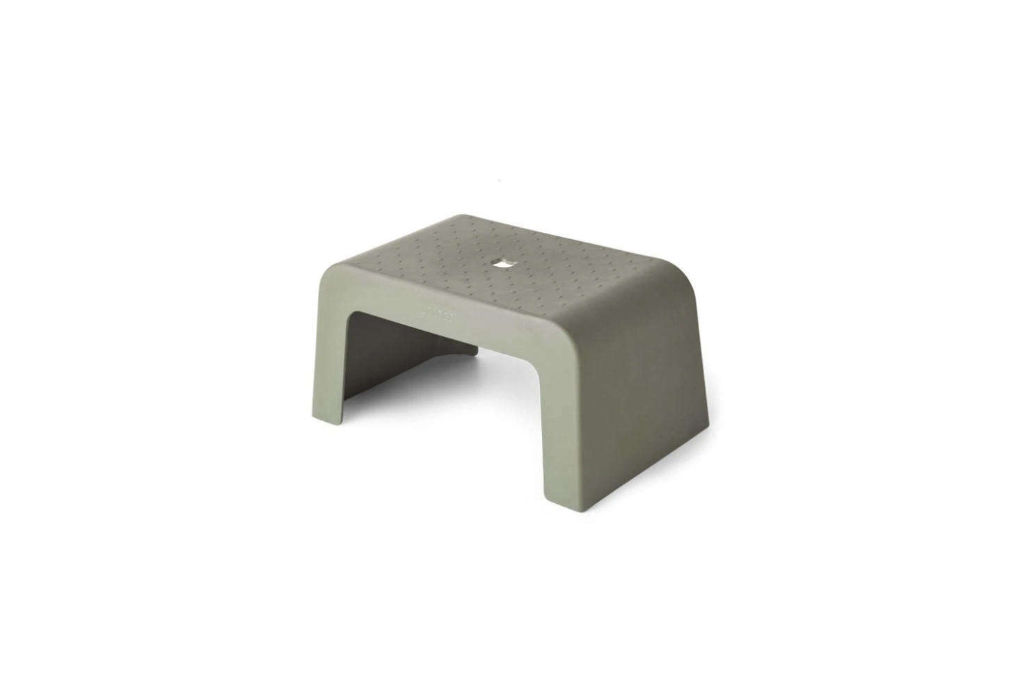 The Liewood Ulla Step Stool, shown in Green Faune, is made of a blend of bamboo fiber and melamine; $53.95 at Scandiborn. The stool is also available in Mustard and Dumbo Grey.