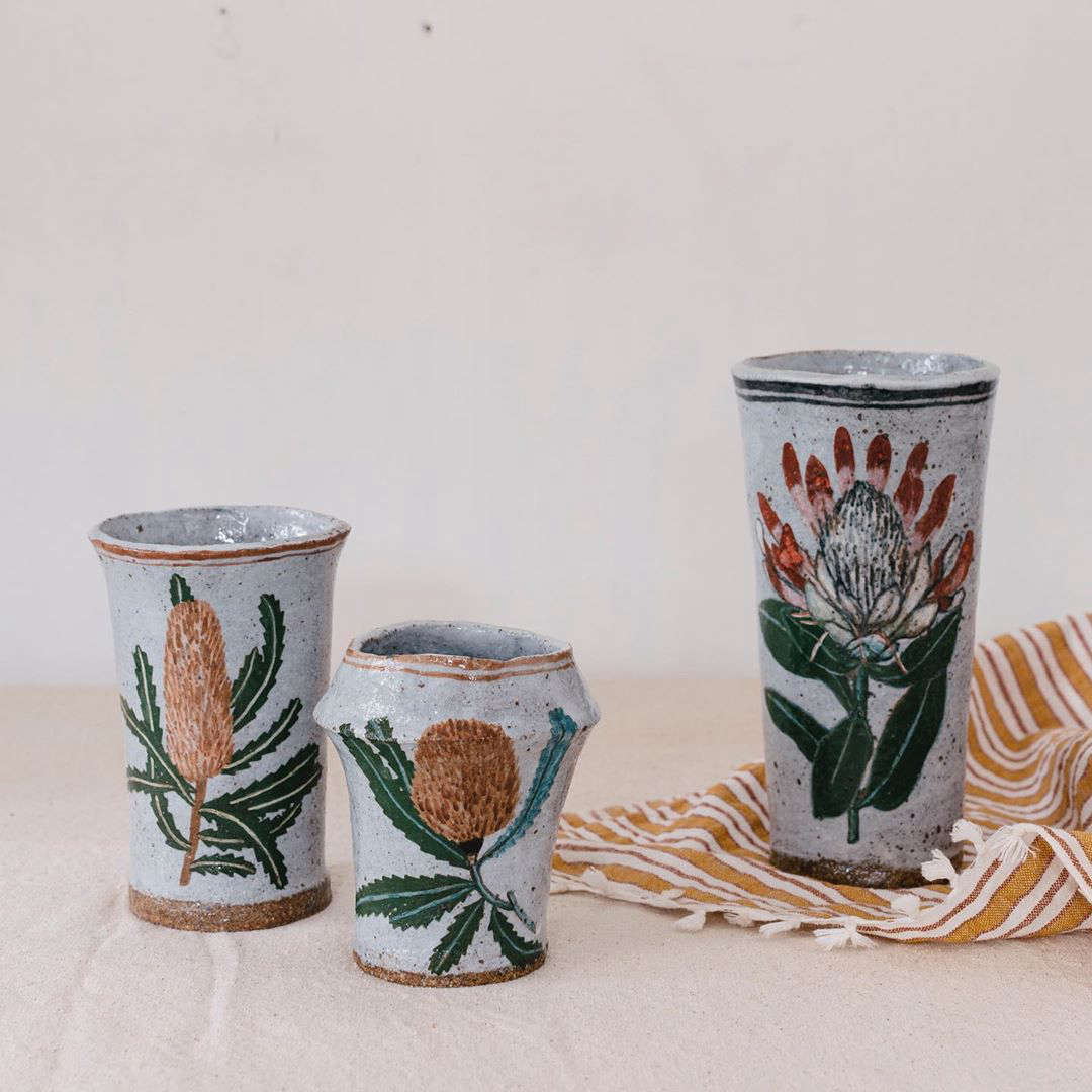 Functional Art: Hand-Painted Ceramics by California Artist Rebekah Miles - Remodelista