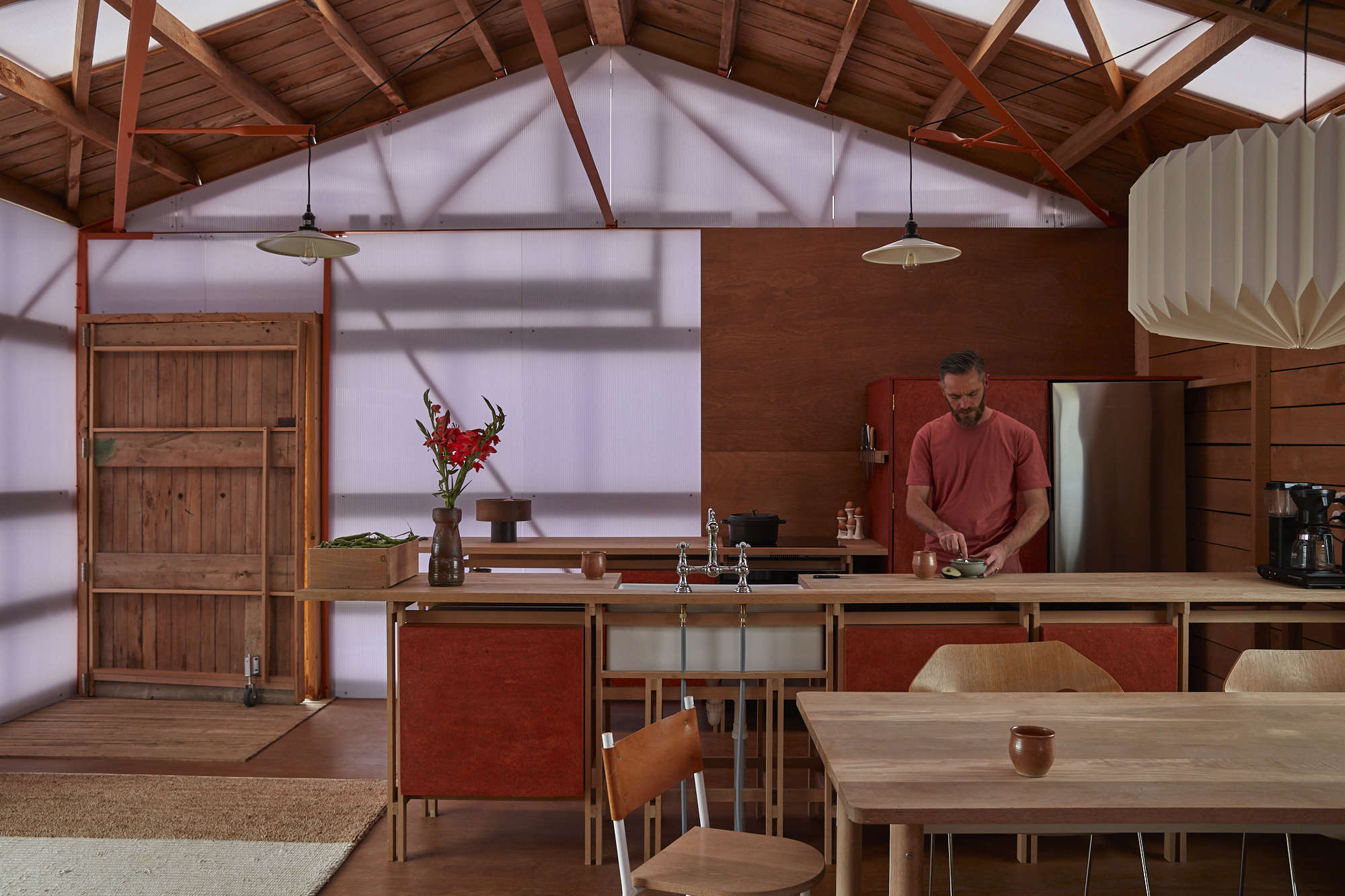 Modern Farm Style: Architect Ben Daly and Family Live in a Sheep Shed He Converted Himself