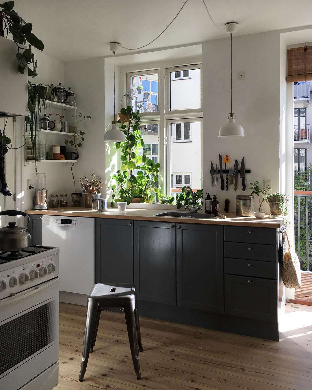 Kitchen of the Week: An Architect's Light-Filled, DIY Copenhagen Kitchen, Ikea Hack Included - Remodelista