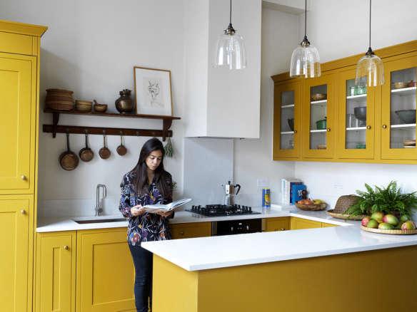 Dark Demode Kitchen Transformed Into Bright White Modern Space