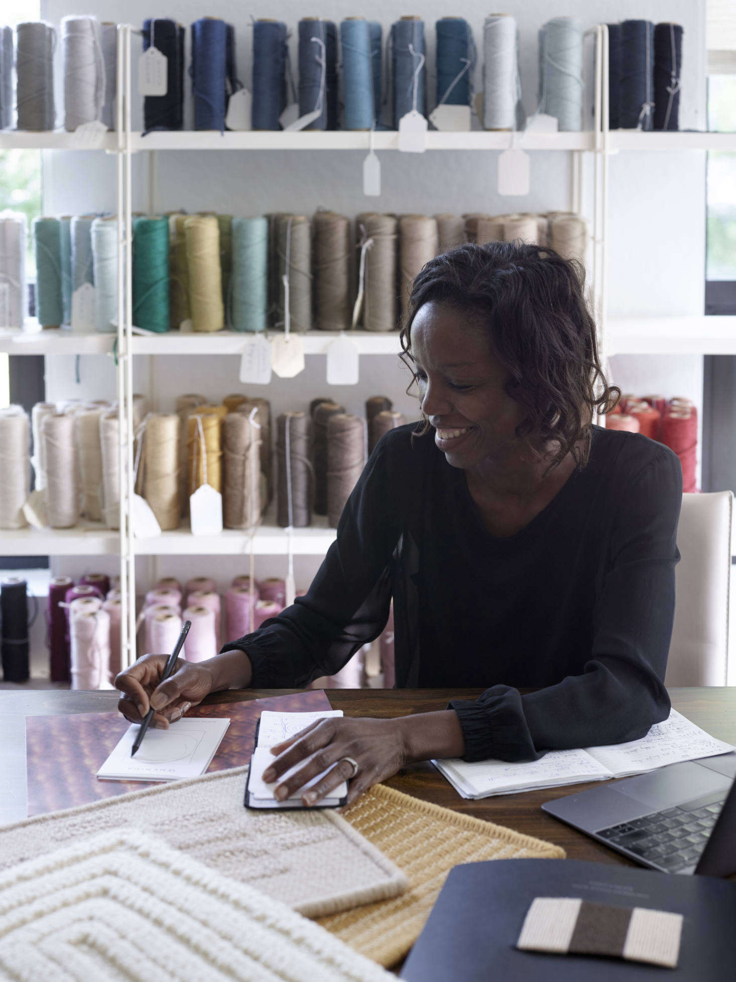 Sylvie works out of her own atelier in Paris&#8