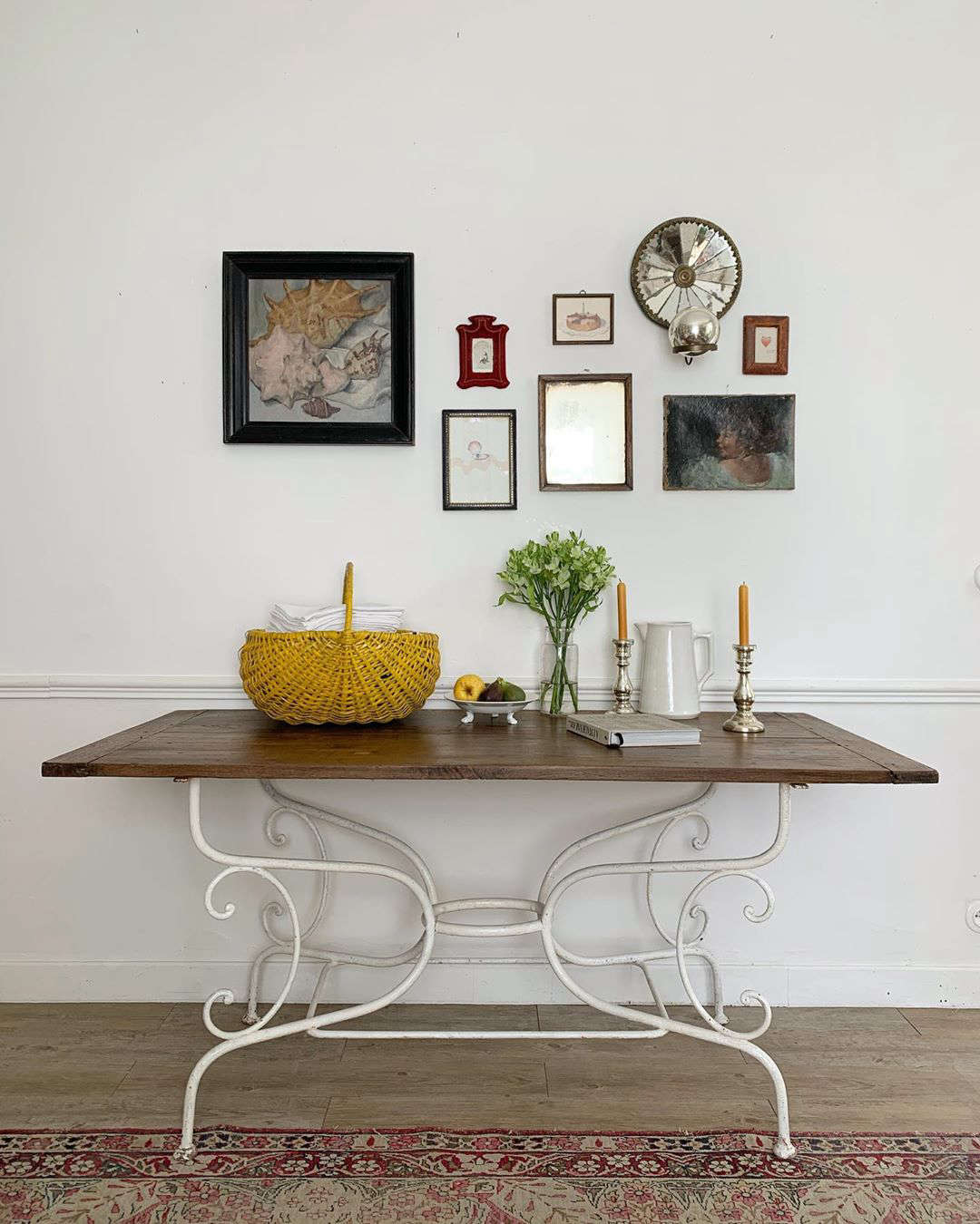 Tabletops and walls are places for ever-shifting vignettes.