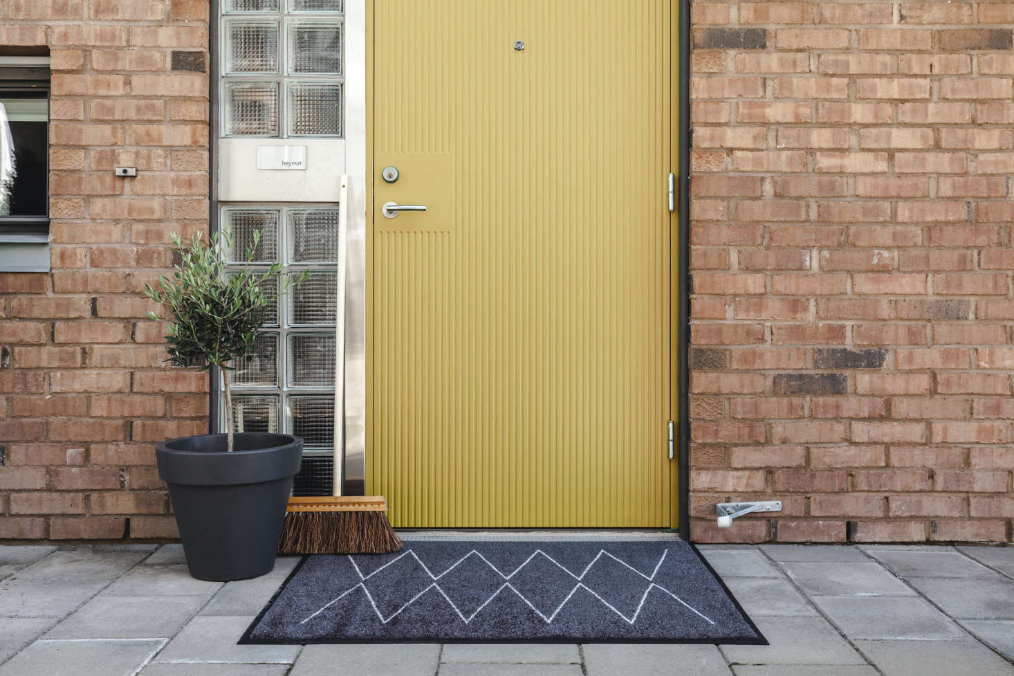 Heymat is an off-shoot of a three-generation, family-owned industrial cleaning business—after years of leasing mats to commercial customers in Norway, the company decided to start making their own and enlisted designers to come up with the patterns. The Lyn, shown here, is available from Austin-based Nannie Inez in two sizes starting at $9.