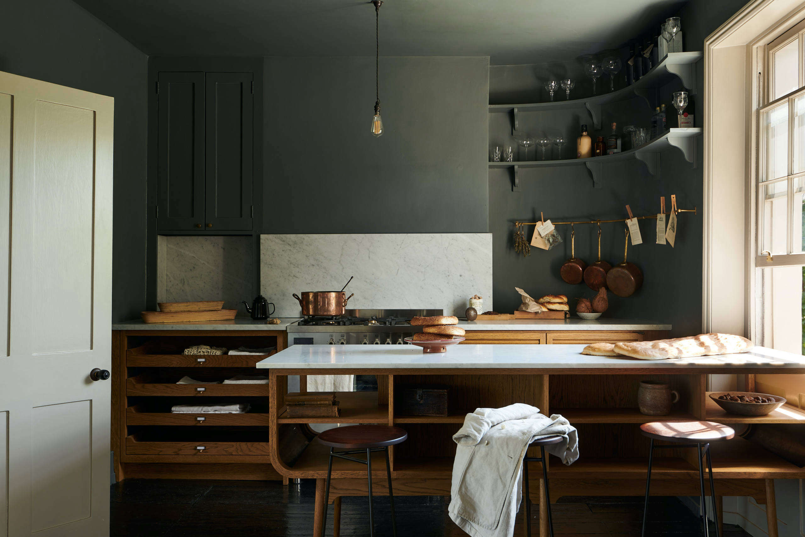Kitchen of the Week: A London Kitchen Inspired by Traditional Haberdashery Stores - Remodelista