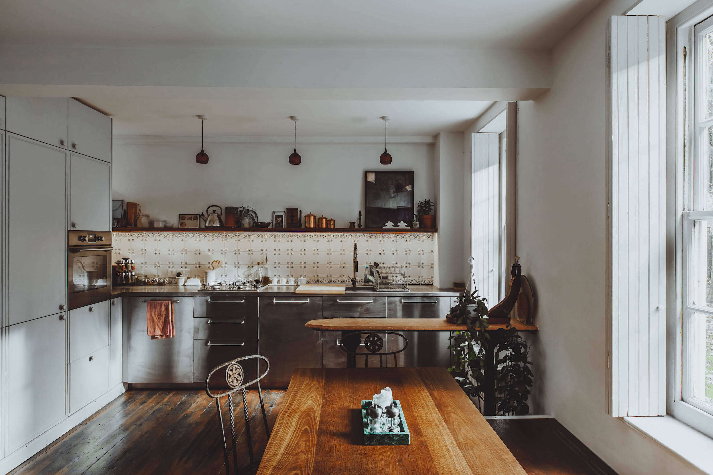 All Things Should Have Stories: A Richly Hued London Flat (With an Ikea Kitchen Too) - Remodelista