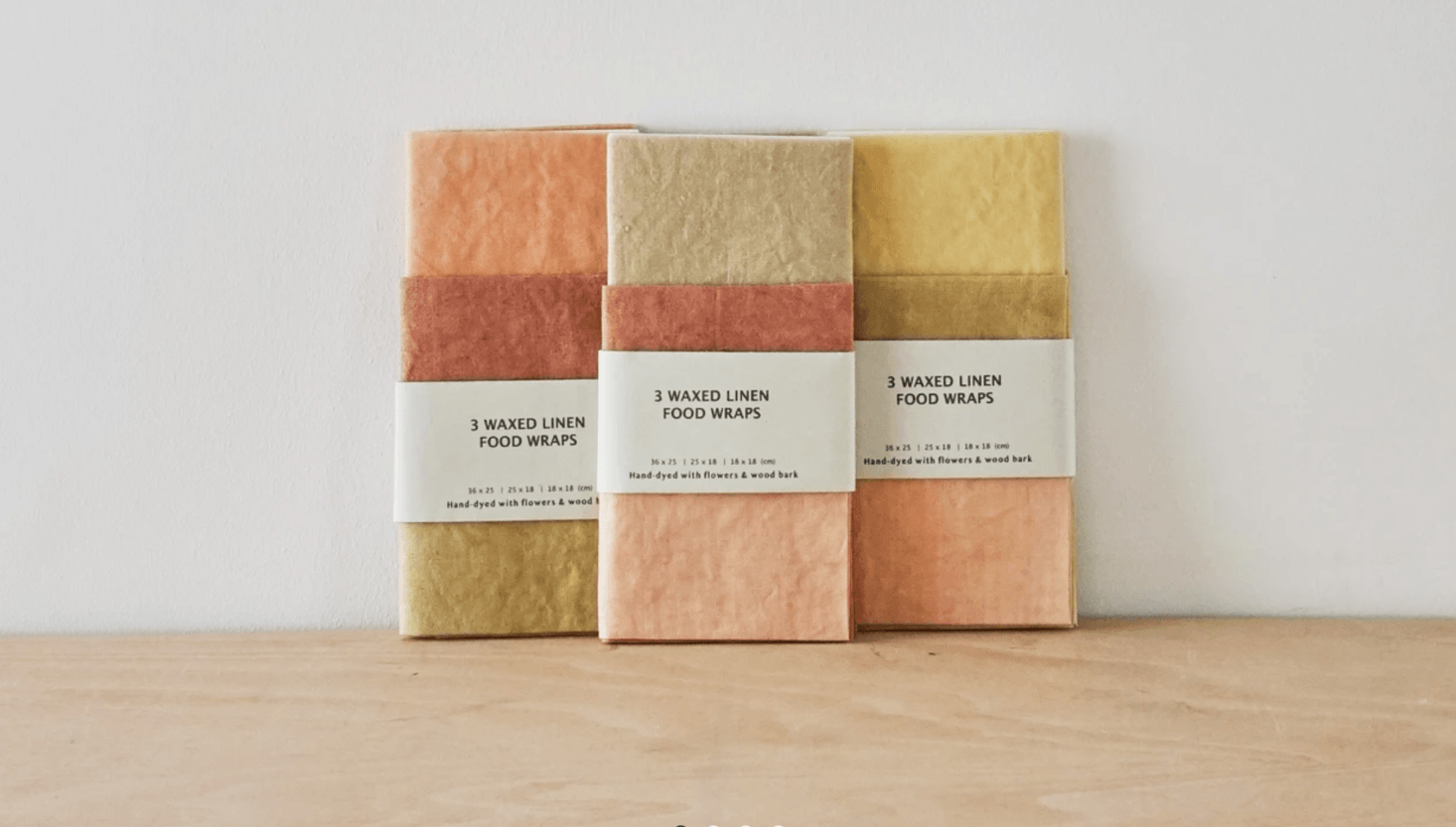 A set of three Waxed Linen Food Wraps is £