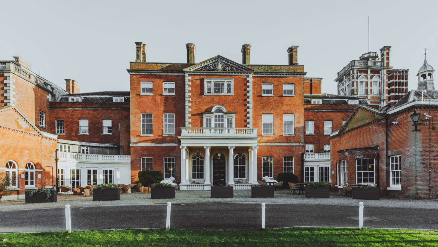 The Birch is located in a 63 brick Georgian house in the town of Cheshunt, near Hertfordshire, England, on a 55-acre estate.