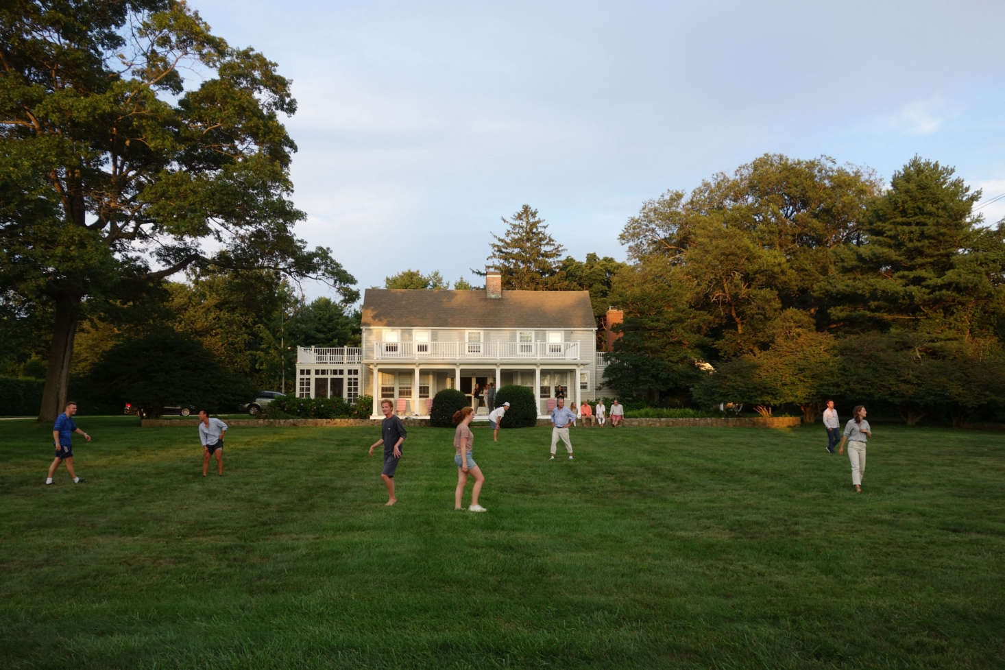 The house sits on an acre and a half of rolling green lawn; ideal for summer games.