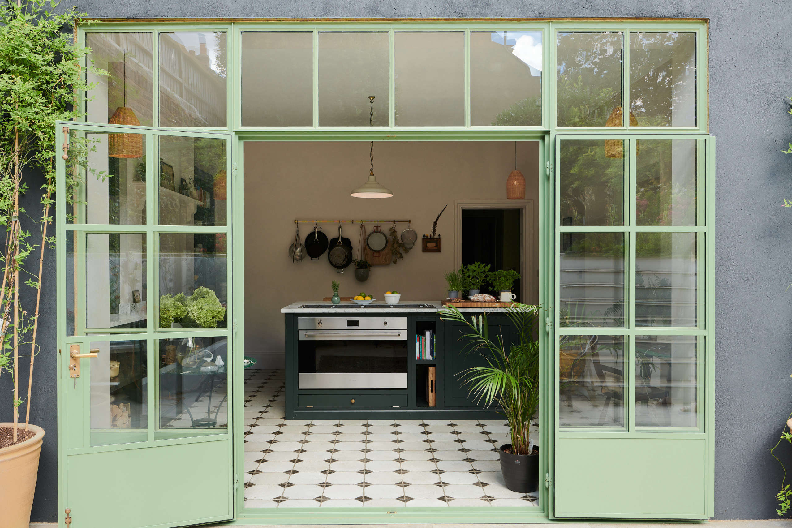 Kitchen of the Week: 'Wes Anderson Meets Provencal' in West London - Remodelista