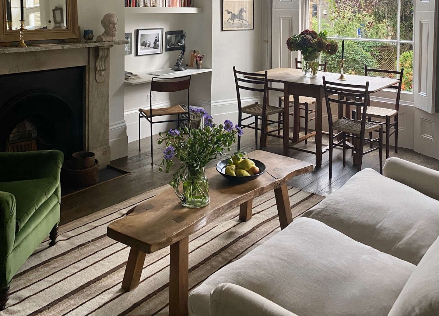 Respect for the Old: In a Tiny London Flat, Antiques, Vintage Finds, and Charm to Spare - Remodelista