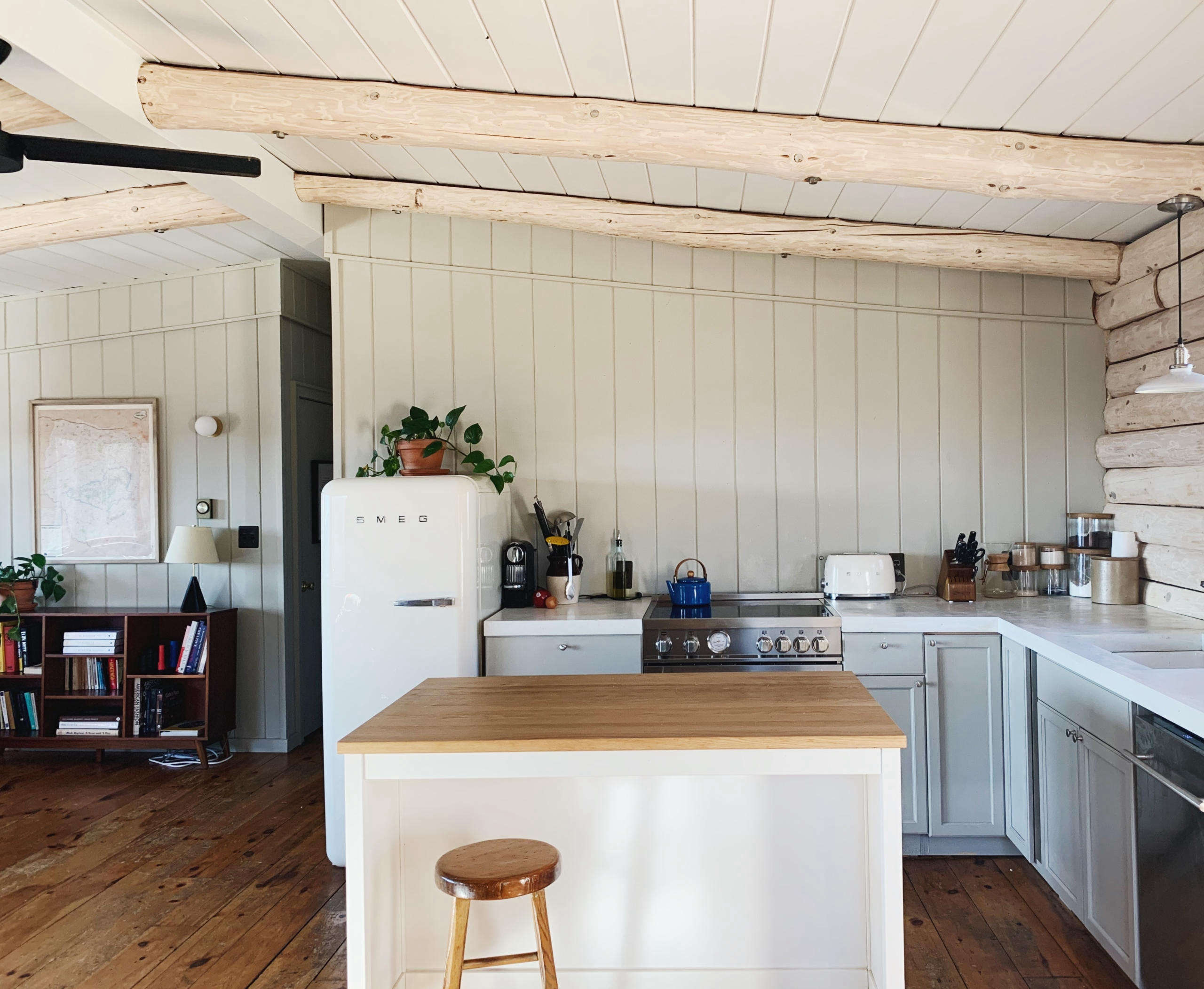 Before and After: A Couple's DIY Cabin Upstate, Redone During Quarantine - Remodelista
