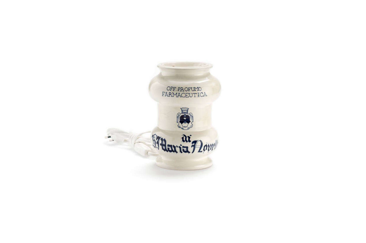 Makers of our favorite potpourri, Santa Maria Novella makes a white and blue Ceramic Perfume Burner, handmade by master potters in Montelupo Fiorentino designed to be used with any of the brand&#8