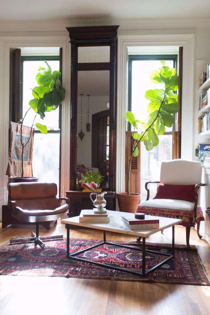 Brooklyn Brownstone Living Room Sunny Corner