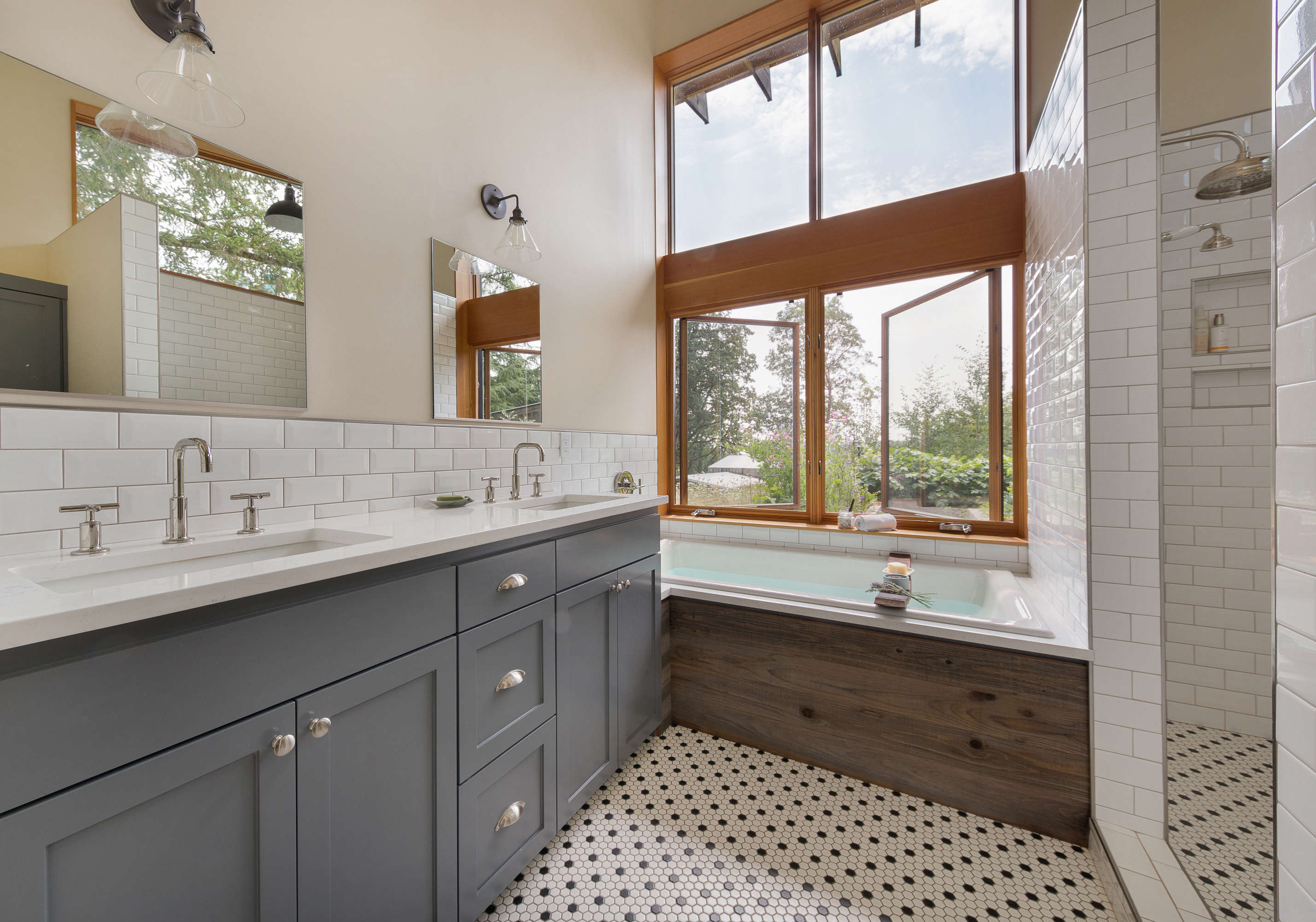 Modern Farmhouse Bath Suite - Remodelista on Modern Farmhouse Shower  id=61604