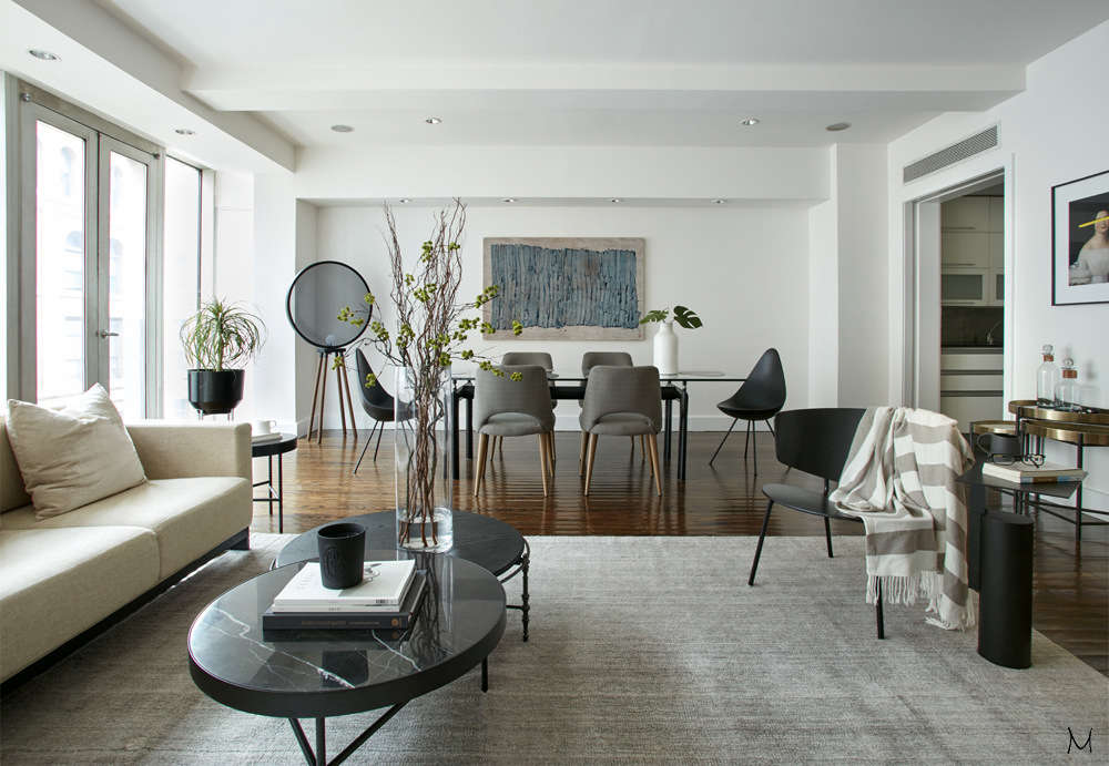 innovative modern eclectic living room design | Mid-century modern Eclectic Living Room in Chelsea NYC ...