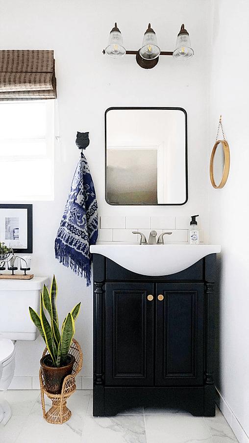 Stylish Rental Bathroom Makeover Remodelista - Rental bathroom makeover