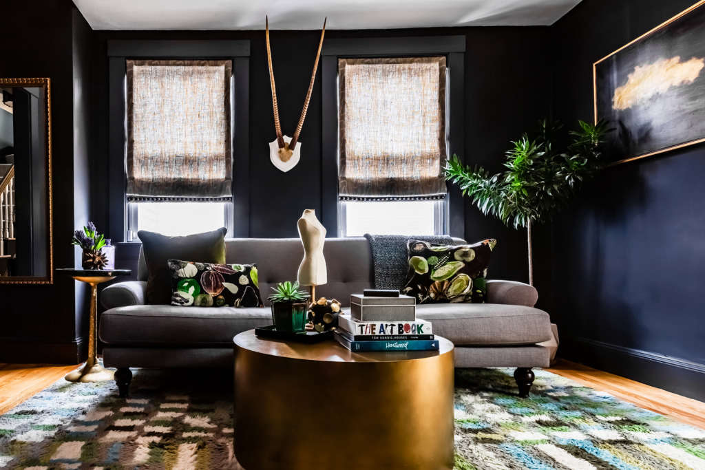 Black Walls: Living room in Cambridge MA - Remodelista