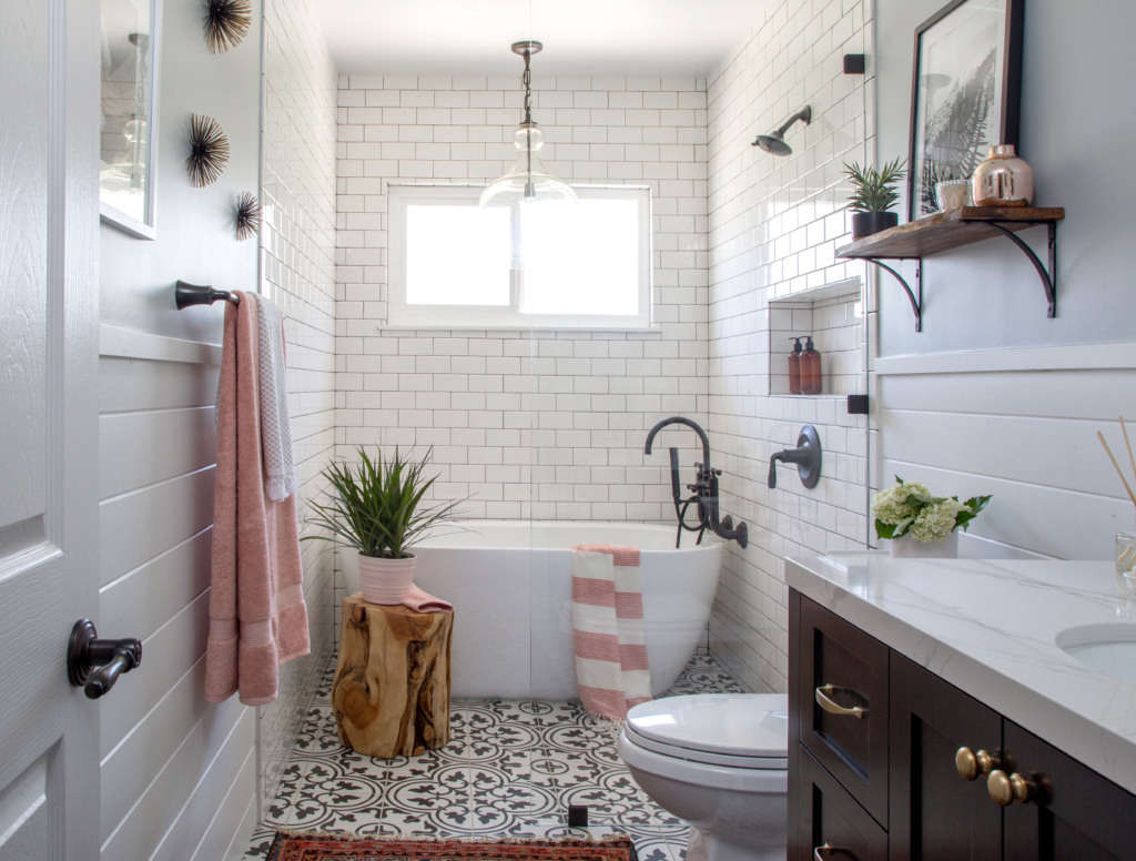 bathroom remodel 1 - Modern Farmhouse Bathroom