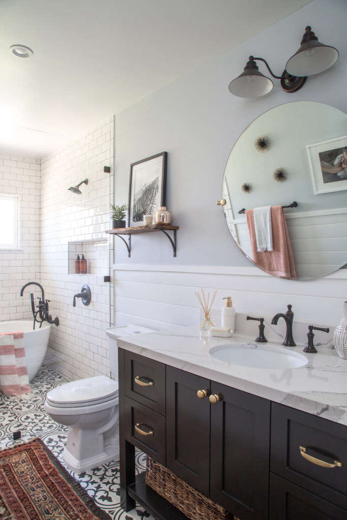 Modern Farmhouse Bath Remodel - Remodelista on Farmhouse Bathroom Remodel Ideas  id=86185