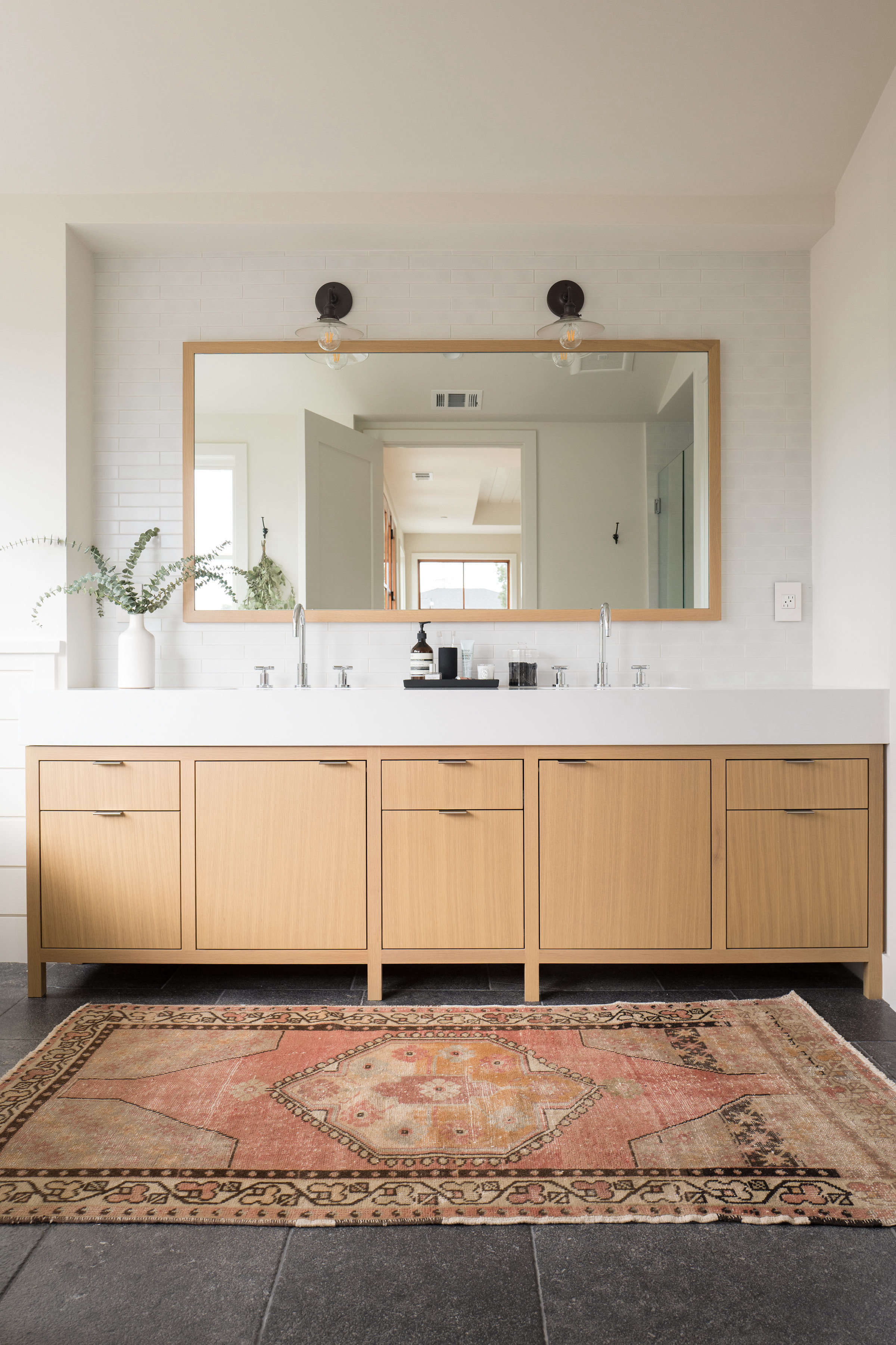 Modern Master Bathroom Ideas Red And Black: Best Professional Bath: Modern Farmhouse Master Bathroom