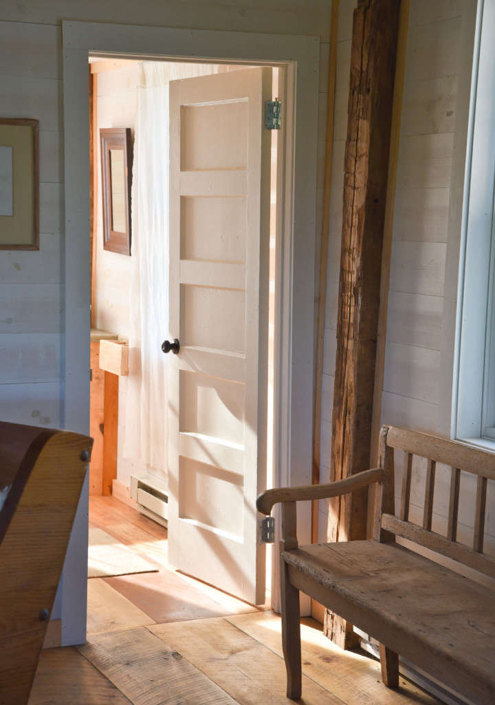 Schoolhouse Bathroom Entry Modern Rustic