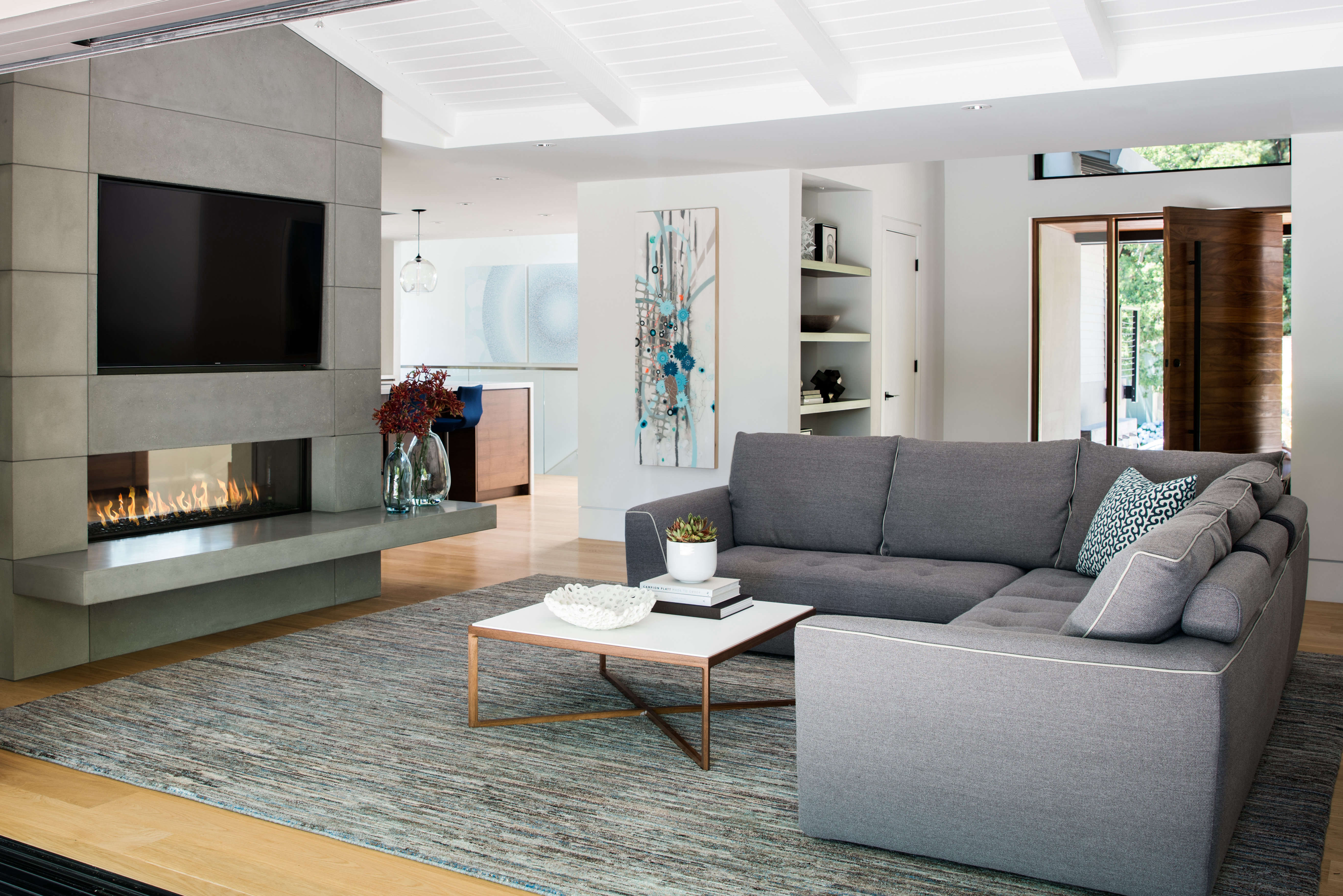 Misty gray inspires bay area modern