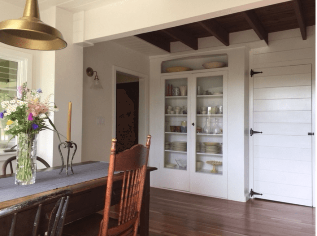 We were able to save and update the original cupboard.